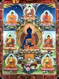 Kurze Medizin-Buddha-Puja/Praxis – Anrufung des Sangye Menla – mit Yesche
