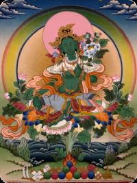 Tschenresig Puja und kurze Grüne Tara Praxis